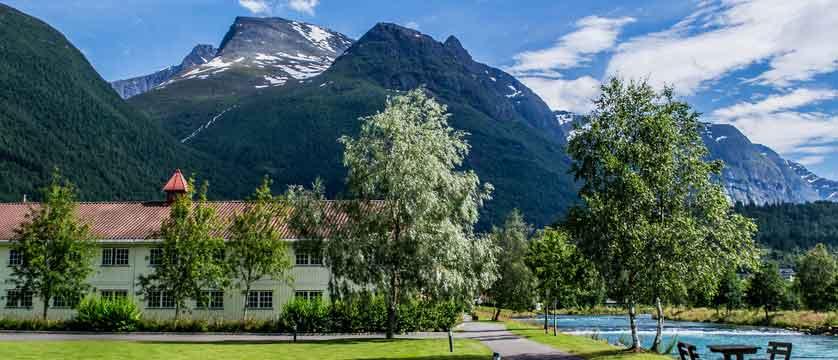 Loenfjord Hotel, Loen, Norway - exterior-by-the-riverside.jpg